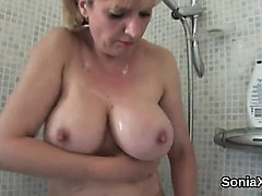 cheating british milf lady sonia flaunts her big boobies