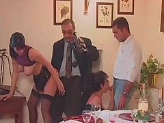 Pleasant Dinner Turns Into Wonderful Gangbang Unexpectedly