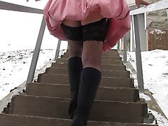 Stockings Upskirt Upstair
