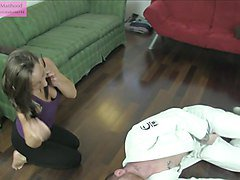 Hot Little Student 2 Preview Ballbusting Grappling Fetish