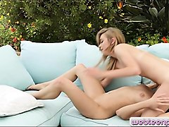 two tight teen girls pleasuring each others pussies outdoors