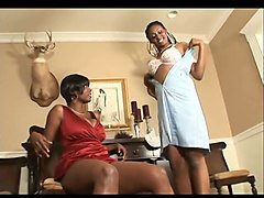 black mistress and black maid loving their lesbian feet