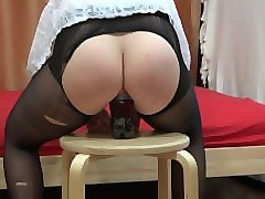 deep anal with a bottle. a deep hole in the ass