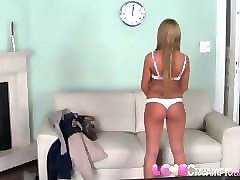 love creampie blonde barbie takes big cock in casting