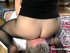 grandma smothered in pantyhose