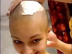 girl friend shaves her had all the way bald