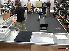 ebony gym trainer fucked by horny pawn man at the pawnshop