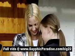Lovely Blonde Amateur Lesbians Kissing And Having Lesbian Sex