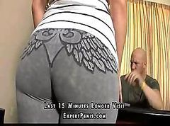 Young doll with very big ass pleasures her well-hung employer