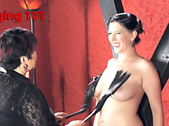 Exotic bdsm, fetish sex scene with best pornstars Nerine Mechanique and Cleo Dubois from Kinkuniversity