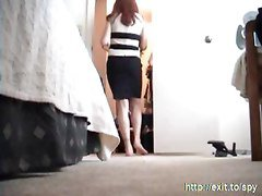 Spying My Stepsister 19 Y Nude In Her Bedroom