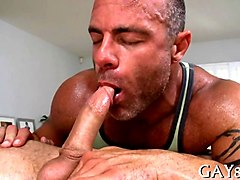 mature dude licks ass and fucks massage client