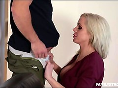 booby blonde milf fucked by her stepson