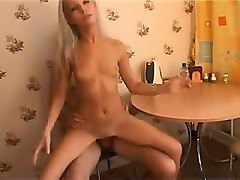 cute skinny blonde teen fuck at home