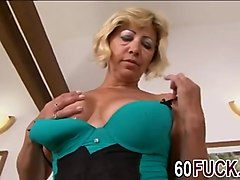 Busty grandma gets fucked by black dick