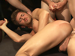 Straight gym trainer begs for mercy as he gets cocks up the ass for the very first time.