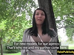 Pickup european amateur sucks cock outdoors