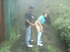 Indian Couple Fuck In The Rain