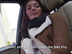 pretty amateur teen railed in the car