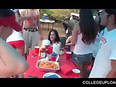 outdoor college party with nasty sex games