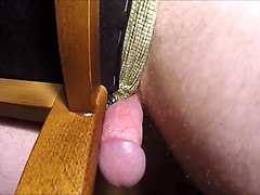 Handsfree humping chair and crazy cum orgasm without jerk