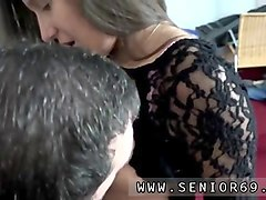 cute russian babe has loves fucking with an old guy